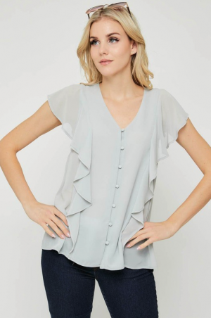 Sage Button Front Top