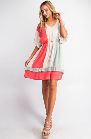 Joyful Striped Dress