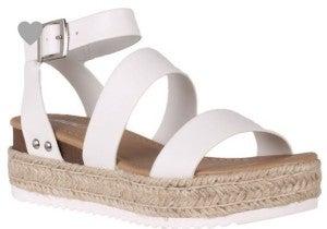 Bryce White Platform Sandal *Final Sale*