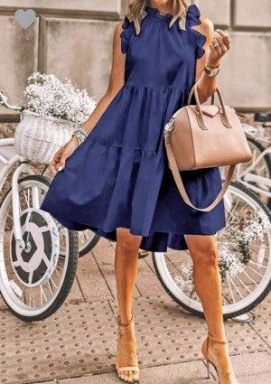 Binda Ruffled Shirred Dress