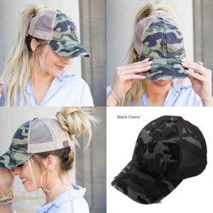 Camo Ponytail Hat