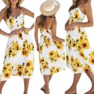 Sunflower Beach Dress