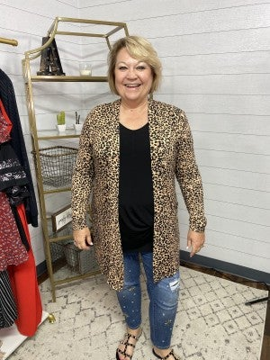Animal Print Pocket Cardi