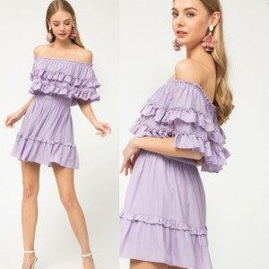 Flirty and Fab Lilac Dress