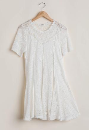 White Wedding Lace Dress