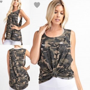 Distressed Camo Essential Tank