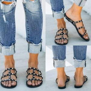Designer Dupe Stud Sandal