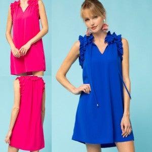 Ruffle Edge Date Dress