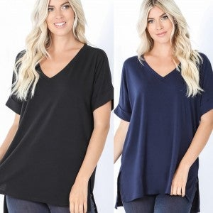Rolled Sleeve Easy Tunic