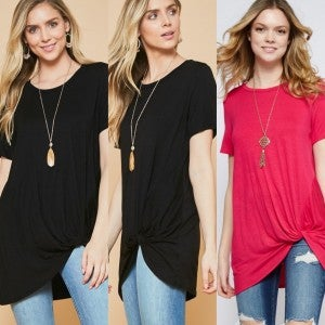 Side Knot Solid Sheridan Top