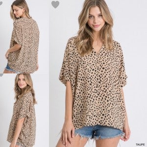 Taupe Must Have Blouse