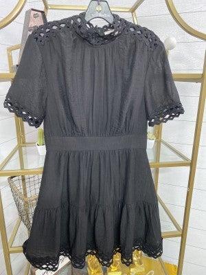 Lattice Wedding Guest Dress *Final Sale*