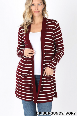 Striped Pocket Cardi