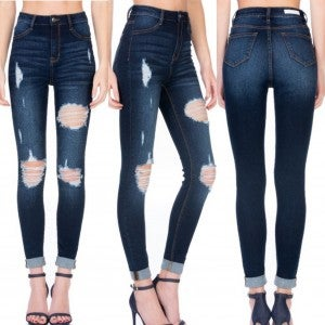 Cello Roll Cuff Jeans- ONLY LIGHT WASH
