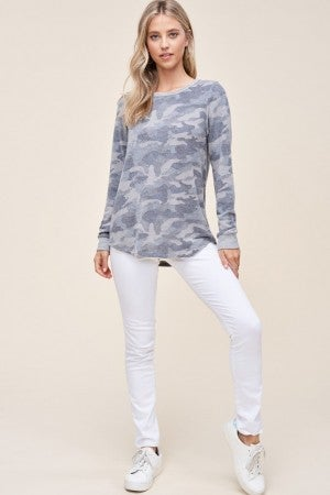 Camo Fleece Top