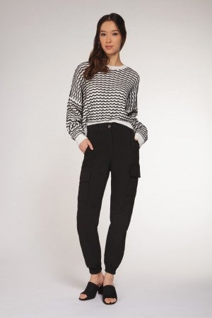 Zigzag Sweater Top