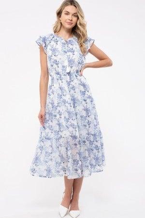Floral Tired Midi Dress