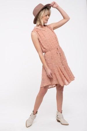 Pom Pom Dot Swing Dress
