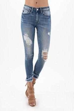 Nala Mid Rise Ankle Skinny