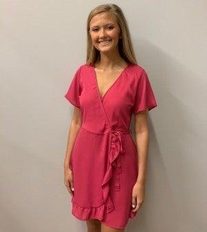 Bubblegum Pink Tie Dress
