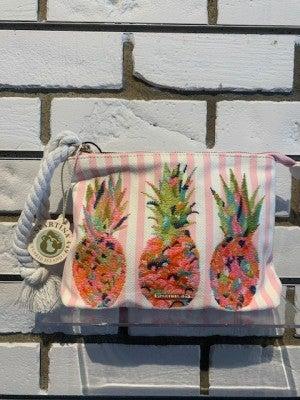 Spartina Pineapple Wristlet