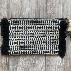Black and Ivory clutch