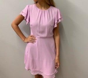 Pastel Ruffle Sleeve Dress