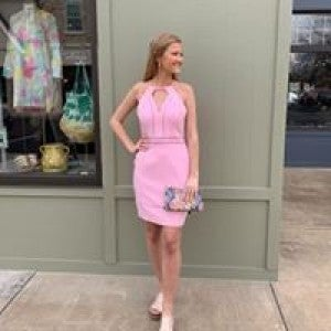 Baby Pink Halter Dress