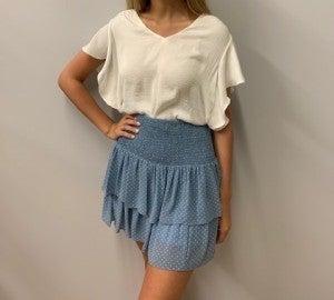 Periwinkle Blue Polka Dot Skirt