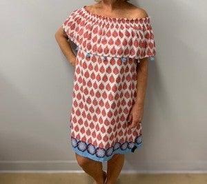 Leaf off-the-shoulder Dress