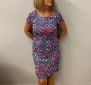 Pink & Teal Dress