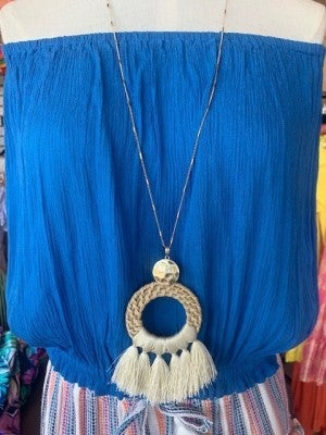 Long Bamboo Necklace