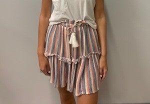 Striped Tier Skirt