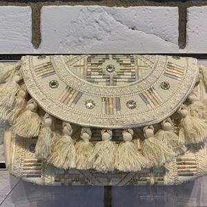 Tassel Embroidered clutch
