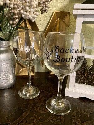 Boujee Wine Glasses