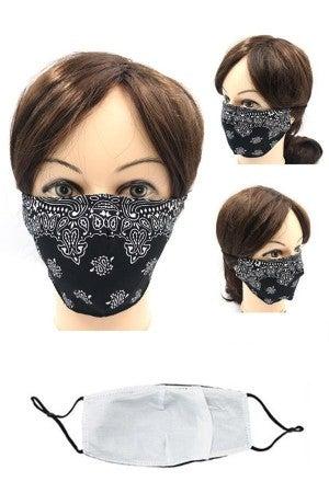 Bandana Patterned Face Mask