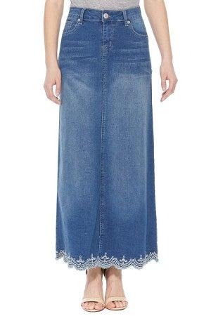 Denim Skirt ~ Lacy (Long)