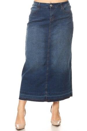 Plus Denim Skirt ~ Becca