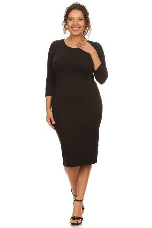 Plus Layering Dress ~ Reese ~ Available in Multiple Colors