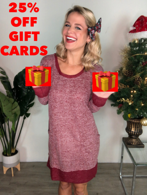 HOLIDAY GIFT CARDS -  25% OFF!