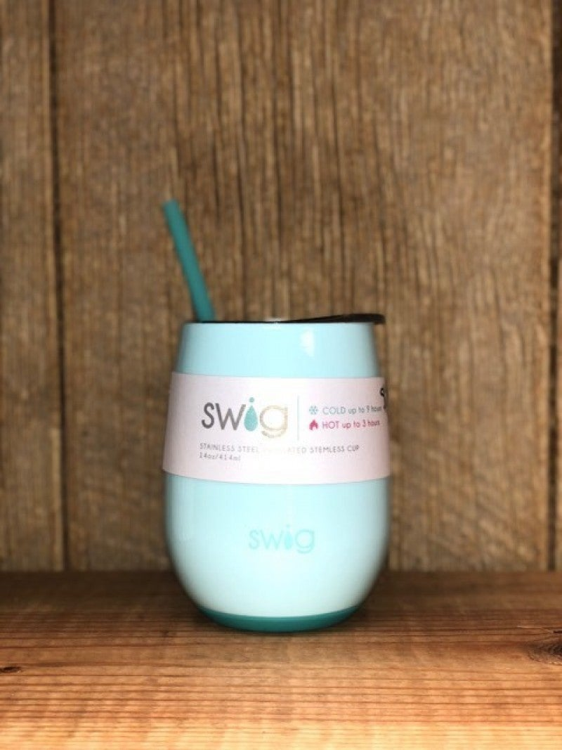 Swig Seaglass 14 oz Stemless Wine Glass