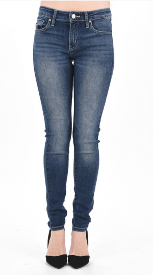 Kan Can Mid Rise Dark Wash Jeans