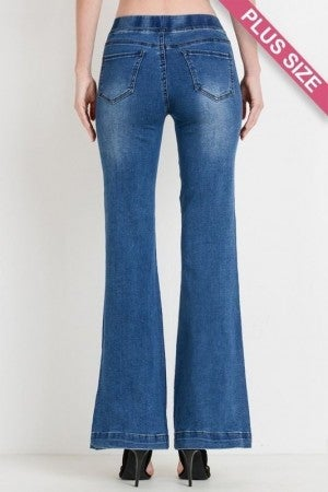 Fit and Flare Pull on Jeans *Final Sale*