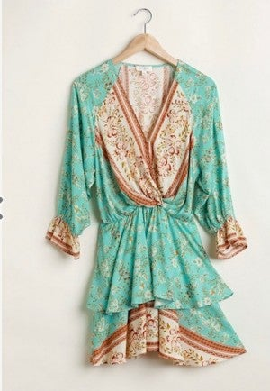 Mint Paisley Dress