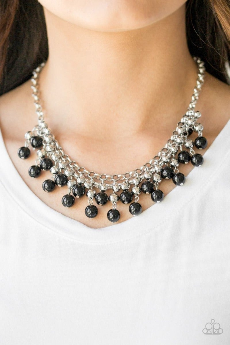Black Bead Necklace 1 n238