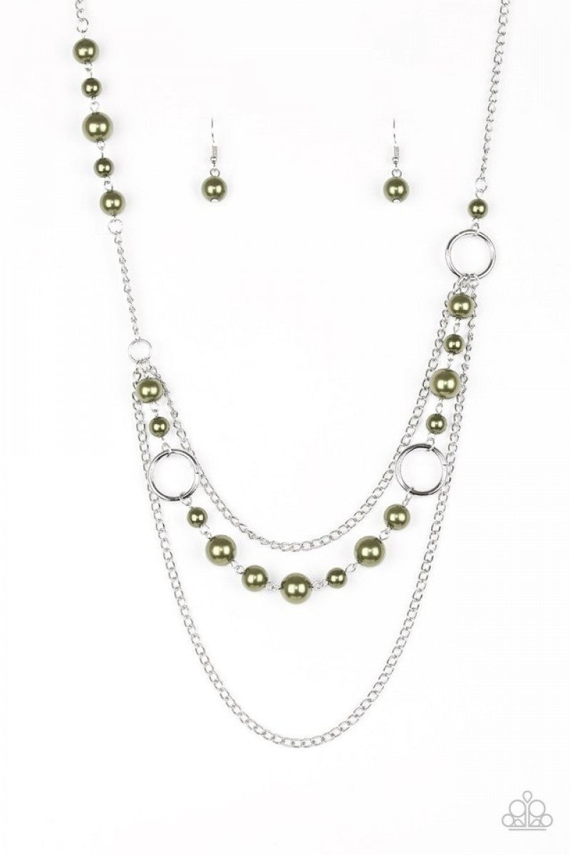 Green Pearl Necklace 2 n251