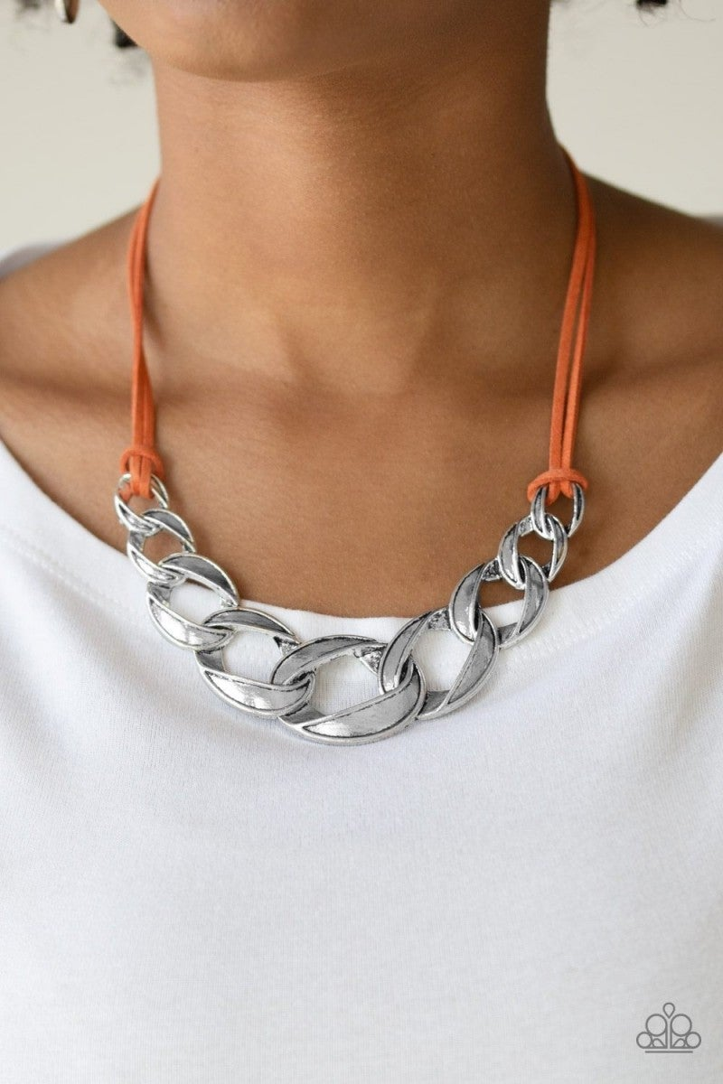 Silver Chain Necklace n241