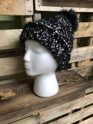 Eyelash Pom Pom Hat
