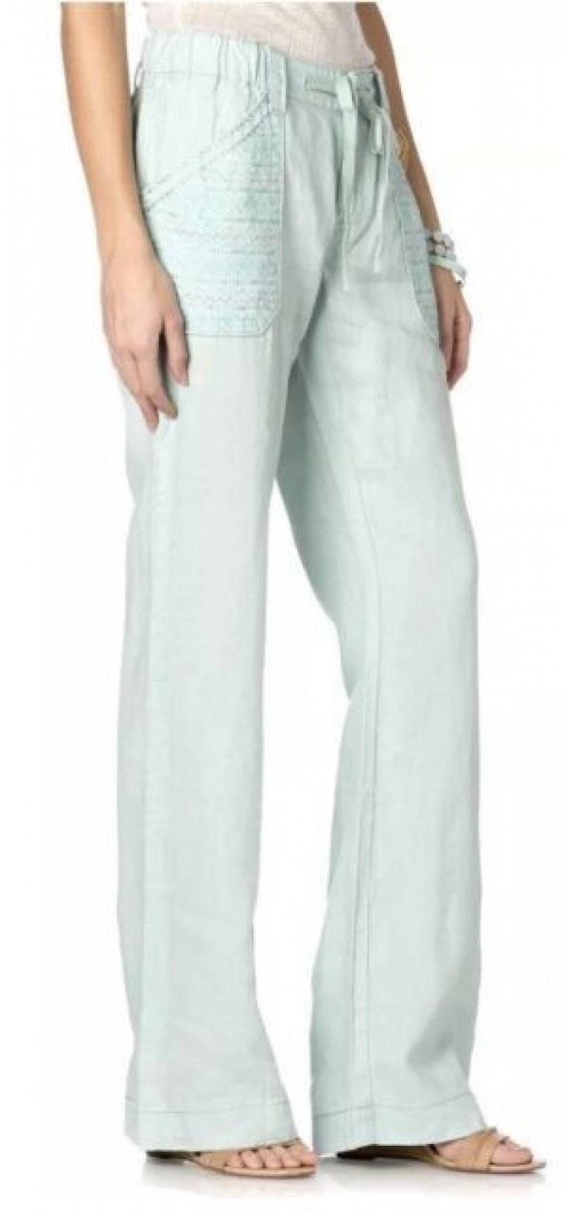 Miss Me Drawstring Linen Pants