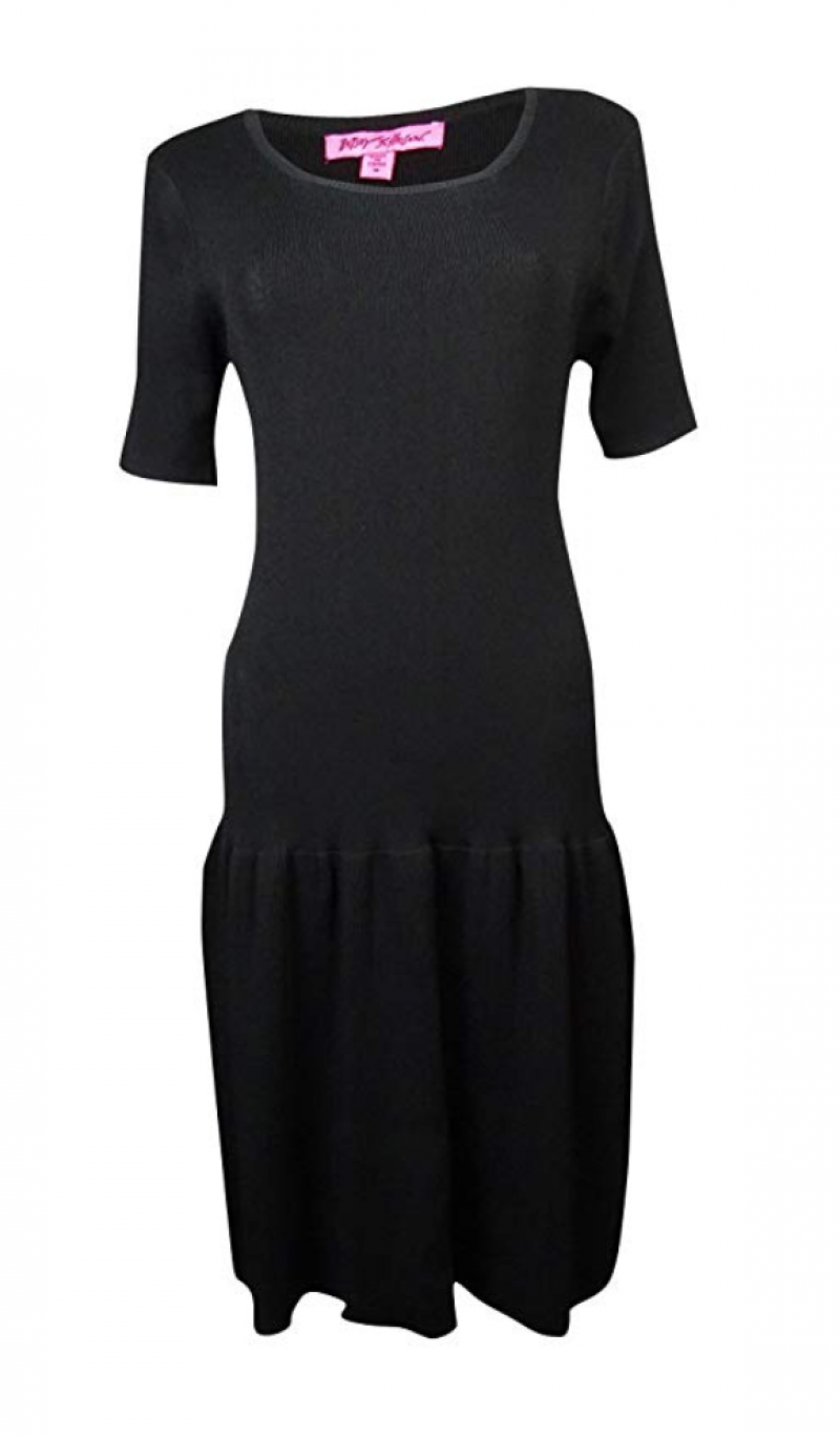 Betsey Johnson Short Sleeve Drop Waist Dress